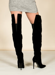 Black Thigh High Boots , Shoes - Fashion Trend LA, Fashion Trend LA  - 3