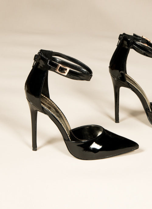 Buckle Patent Pumps , Heel - Fashion Trend LA, Fashion Trend LA  - 1