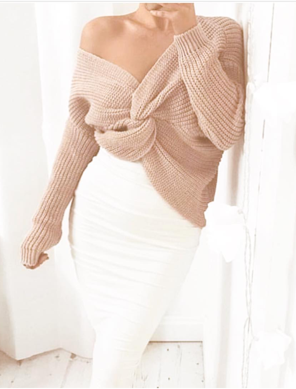 Front or Back Twist Sweater - $24