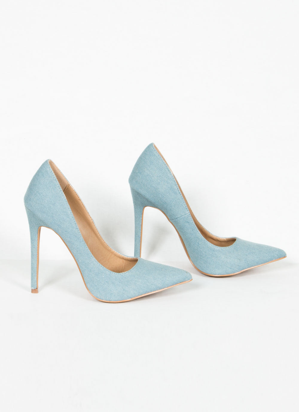 Blue Denim Pumps 5.5, Heel - Fashion Trend LA, Fashion Trend LA