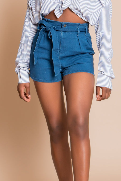 Indigo Denim Shorts