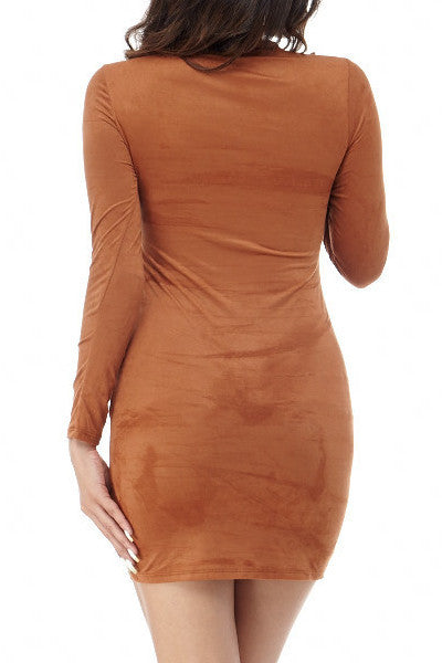 Julie Faux Suede Dress , Dresses - Fashion Trend LA, Fashion Trend LA  - 2