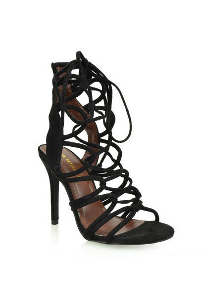 Legendary Strappy Heel 6 / Black, Heel - Fashion Trend LA, Fashion Trend LA  - 1