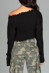 Lady In Distress Crop Sweater