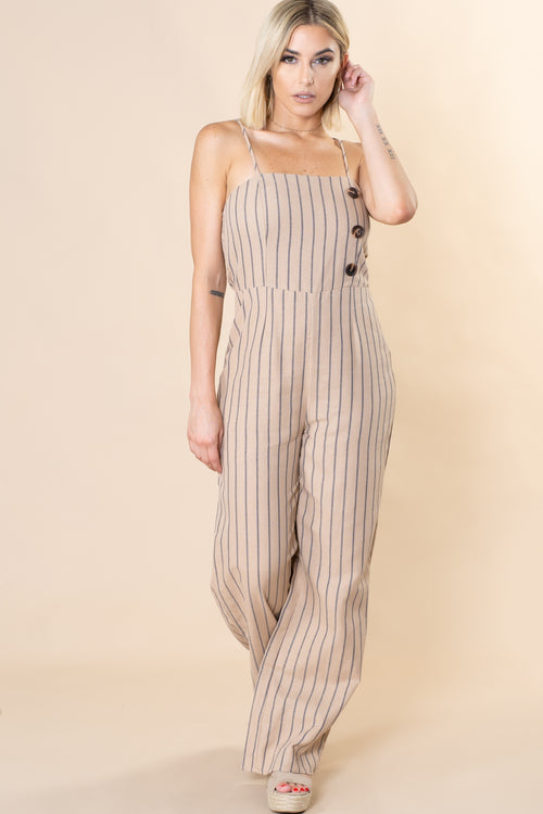Lucy Pinstripe Jumpsuit