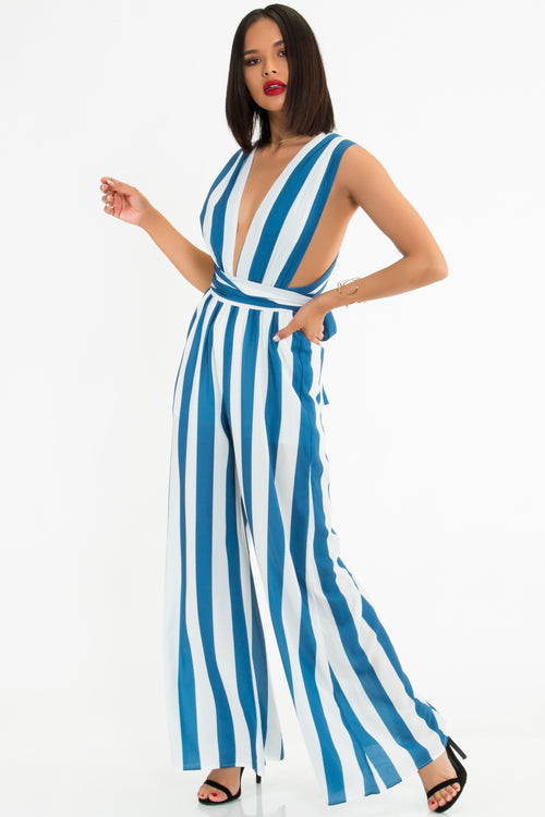 Maggie Striped Jumpsuit