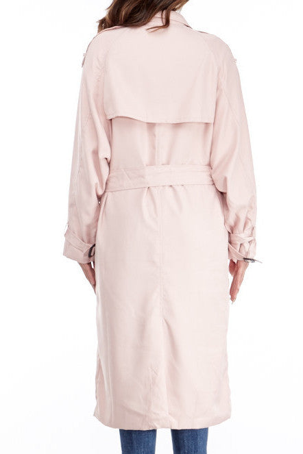 Marilyn Pink Trench Jacket , Jacket - Fashion Trend LA, Fashion Trend LA  - 3