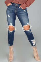 Marla Distressed Crop Skinny Jeans