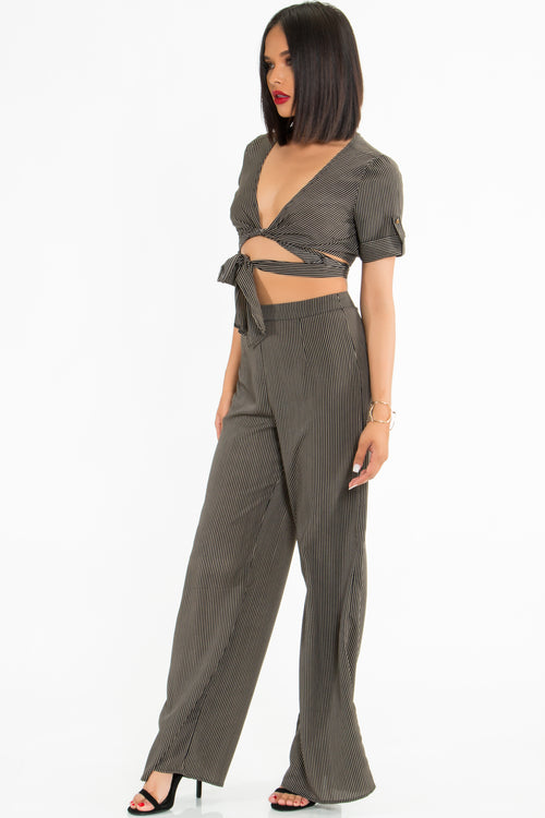 Mira Pinstripe 2-Piece Set