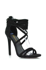 Paris Lace-Up Heels 5.5 / Black, Shoes - Fashion Trend LA, Fashion Trend LA  - 1