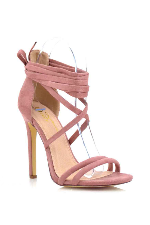 Paris Lace-Up Heels 5.5 / Blush, Shoes - Fashion Trend LA, Fashion Trend LA  - 2
