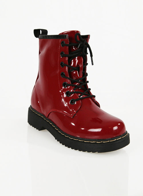 Combat Lace Up Boots , Shoes - Fashion Trend LA, Fashion Trend LA  - 1