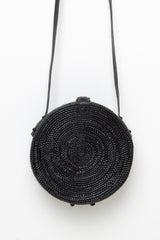 Round Wicker Purse