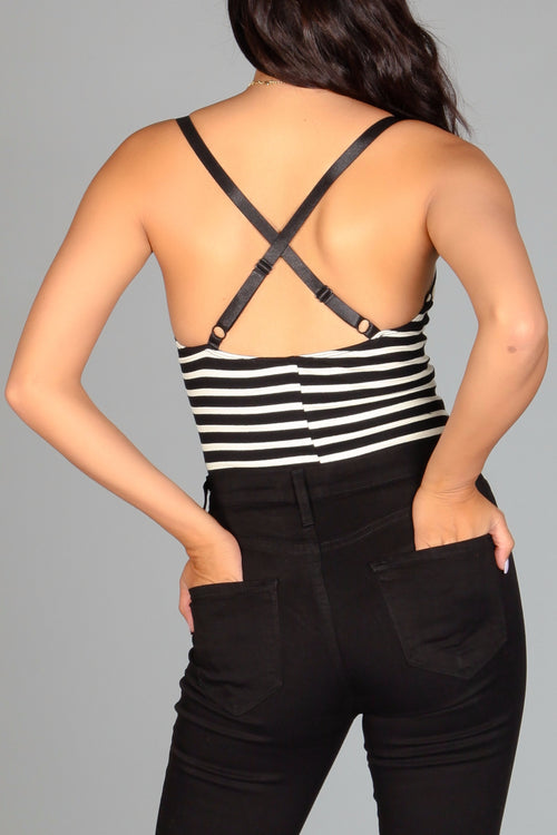Roxie Striped Bodysuit