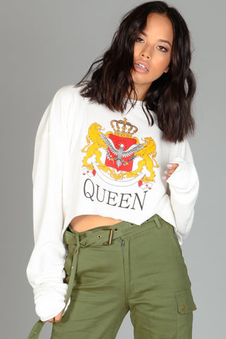 Royal Queen Crop Sweater