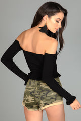 Ruffle Trouble Crop Top