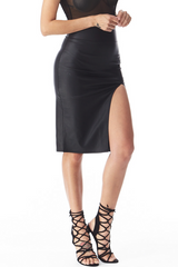 Sienna Faux Leather Skirt , Bottoms - Fashion Trend LA, Fashion Trend LA  - 2