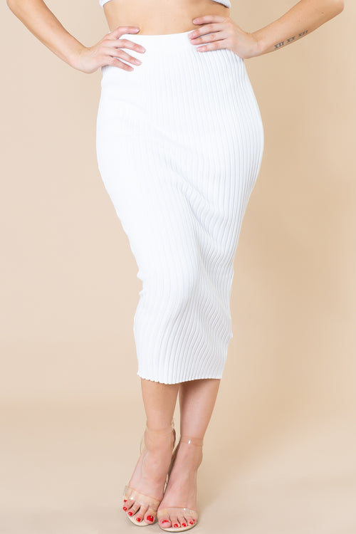 Vicky Knitted Pencil Skirt