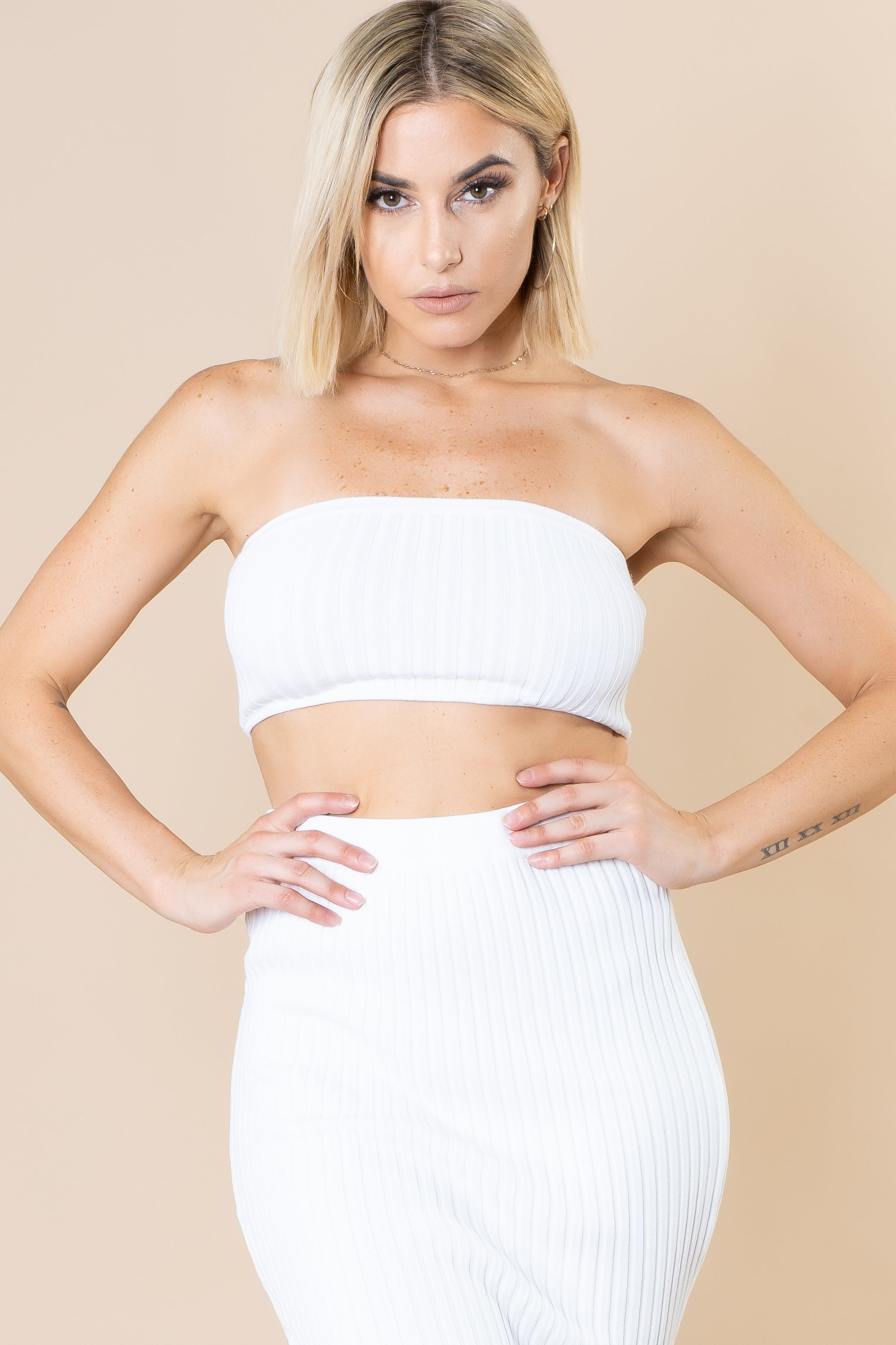 Vicky Knitted Tube Top