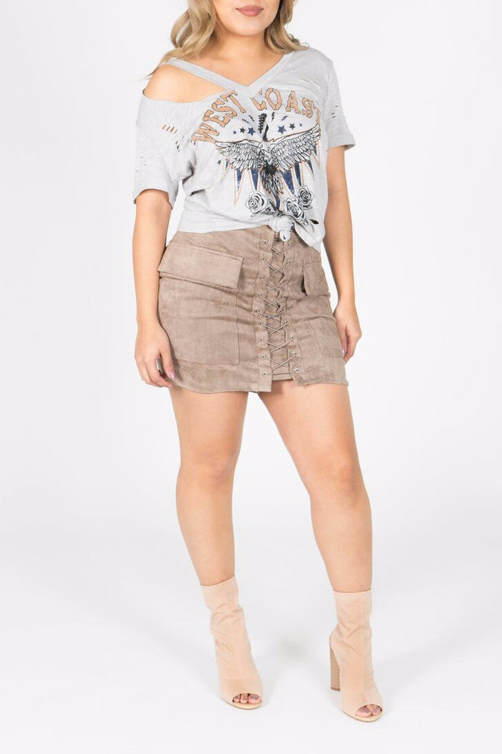 West Coast Graphic Tee Small / Grey, Tops - Fashion Trend LA, Fashion Trend LA  - 1