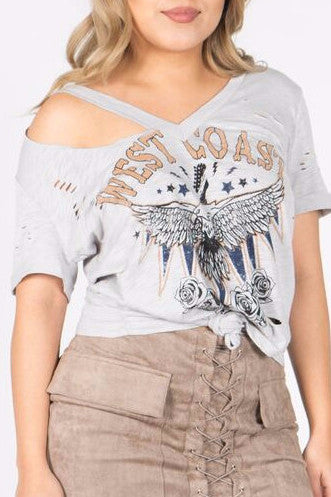 West Coast Graphic Tee , Tops - Fashion Trend LA, Fashion Trend LA  - 2