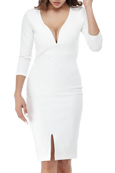 Criss Cross Back Dress Small / White, Dresses - Fashion Trend LA, Fashion Trend LA  - 1