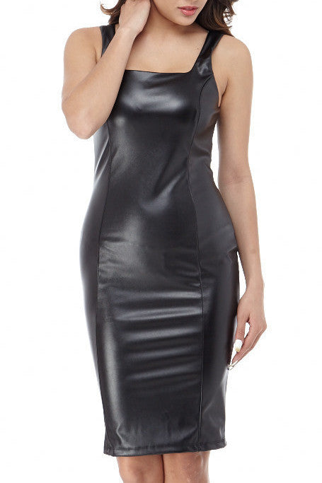 Zena Faux Leather Dress