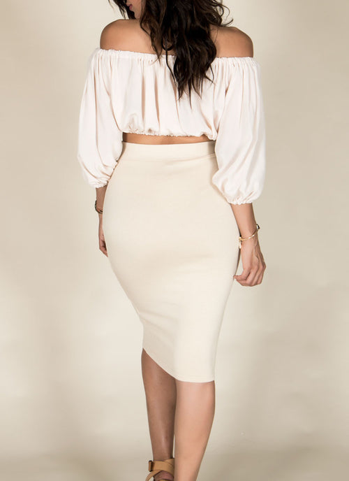 Cream Ruffle Top , Tops - Fashion Trend LA, Fashion Trend LA  - 2