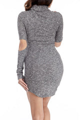 Cutaway Sweater Dress , Dresses - Fashion Trend LA, Fashion Trend LA  - 3