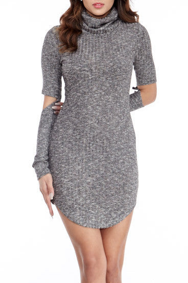 Cutaway Sweater Dress Small, Dresses - Fashion Trend LA, Fashion Trend LA  - 1