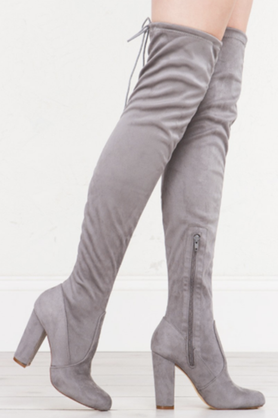 Paige Thigh-high Boots 5.5 / Grey,  - Fashion Trend LA, Fashion Trend LA  - 1