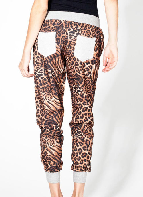Leopard Jogger Pants , Bottoms - Fashion Trend LA, Fashion Trend LA  - 1