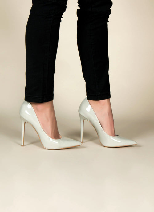 Grey Patent Pumps 6, Shoes - Fashion Trend LA, Fashion Trend LA