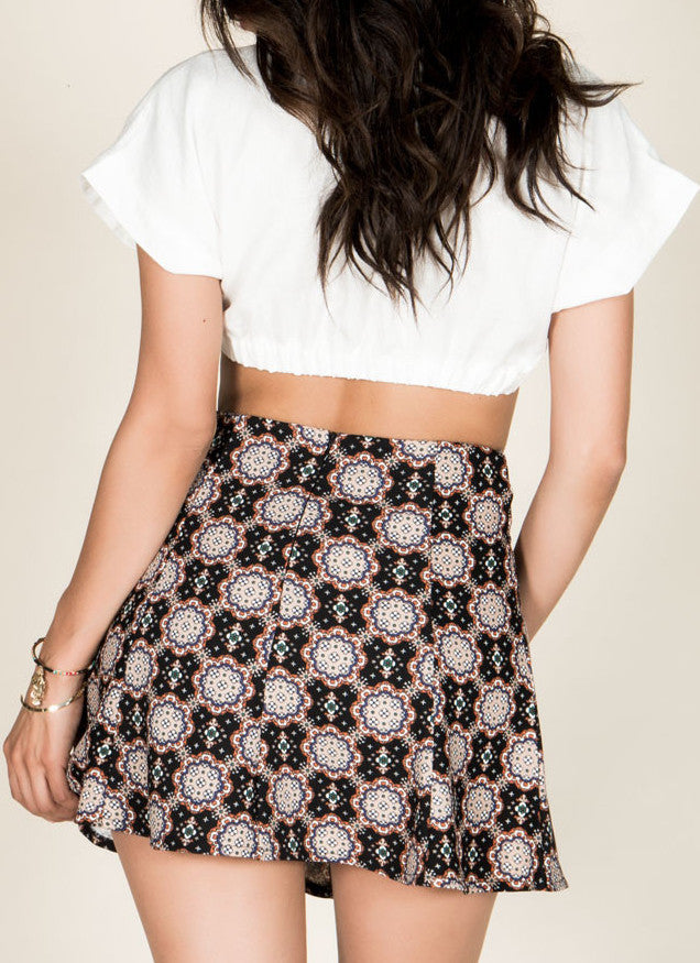 Kaleidoscope Skater Skirt , Bottoms - Fashion Trend LA, Fashion Trend LA  - 3