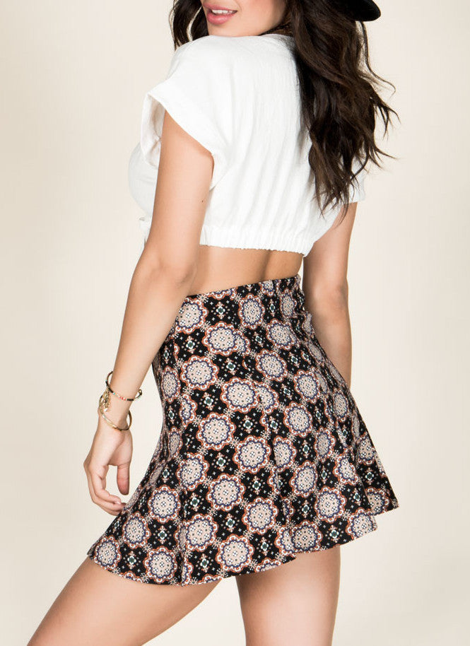 Kaleidoscope Skater Skirt , Bottoms - Fashion Trend LA, Fashion Trend LA  - 2