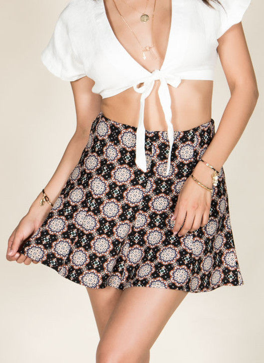 Kaleidoscope Skater Skirt , Bottoms - Fashion Trend LA, Fashion Trend LA  - 4