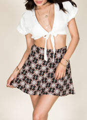 Kaleidoscope Skater Skirt , Bottoms - Fashion Trend LA, Fashion Trend LA  - 1