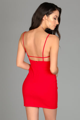 Lady In Red Strappy Dress