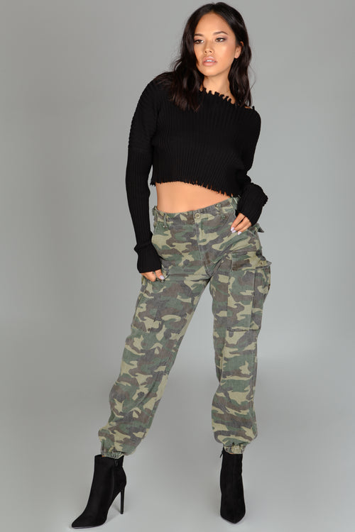 Mandy Camouflage Cargo Pants