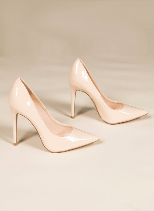 Nude Patent Pumps 5.5, Shoes - Fashion Trend LA, Fashion Trend LA  - 1