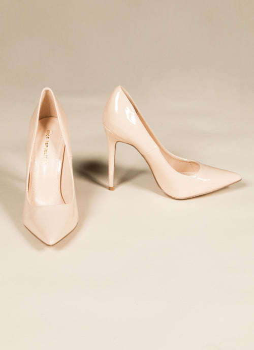 Nude Patent Pumps , Shoes - Fashion Trend LA, Fashion Trend LA  - 2
