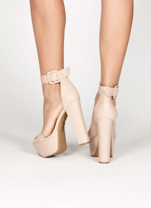 Nude Root Platform Heel , Shoes - Fashion Trend LA, Fashion Trend LA  - 2