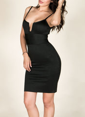 Spaghetti Strap Sweet Heart Bandage Dress , Dresses - Fashion Trend LA, Fashion Trend LA  - 1