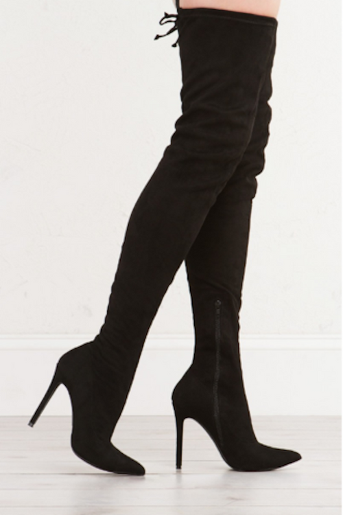 Vogue Thigh-high Boots 5.5 / Black, Shoes - Fashion Trend LA, Fashion Trend LA  - 1