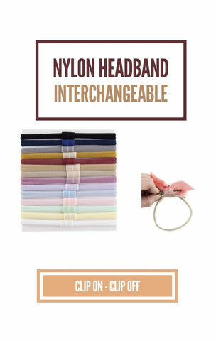 Interchangeable nylon Headband