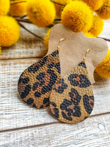 Leopard faux leather