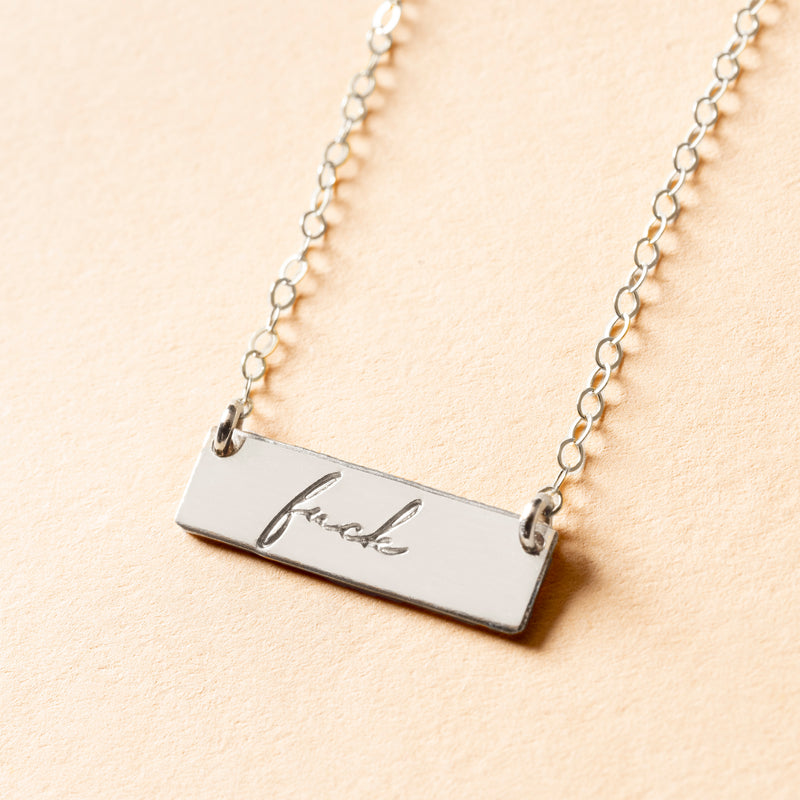 Fuck Petite Bar Necklace