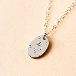 Mystic Snake Small Signet Necklace