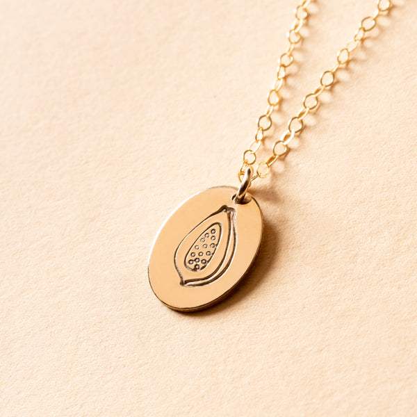 Papaya Small Signet Necklace