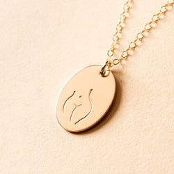 Female Embodiment Signet Necklace